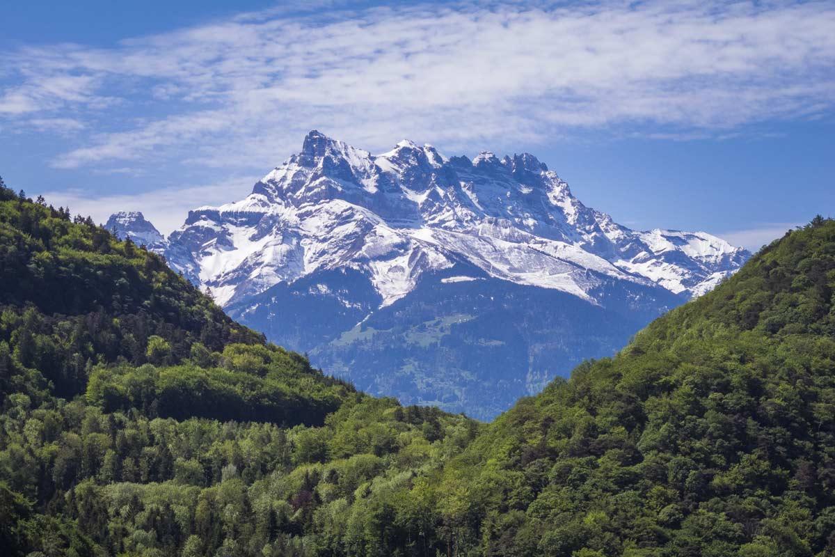 Les Dents du Midi depuis Fontanney. © Fabrice Ducrest