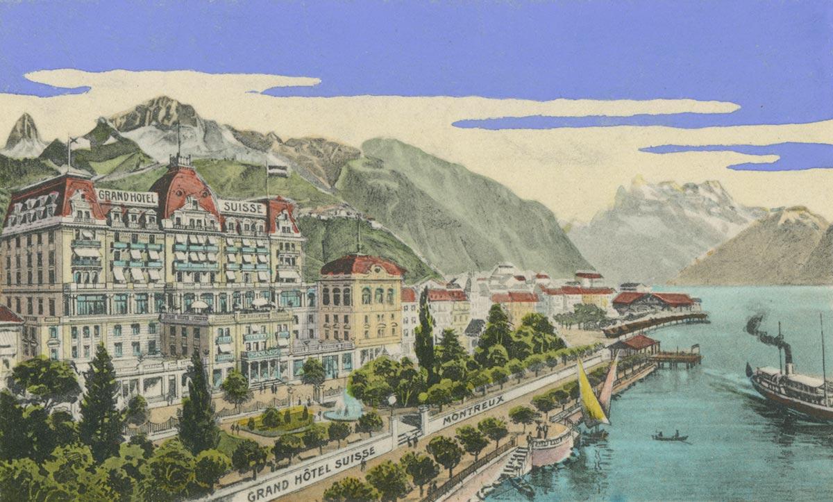 Carte postale. Grand Hôtel Suisse, Montreux