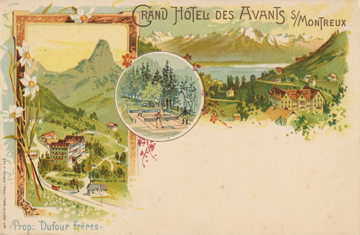 Carte postale. Grand Hôtel des Avants sur Montreux