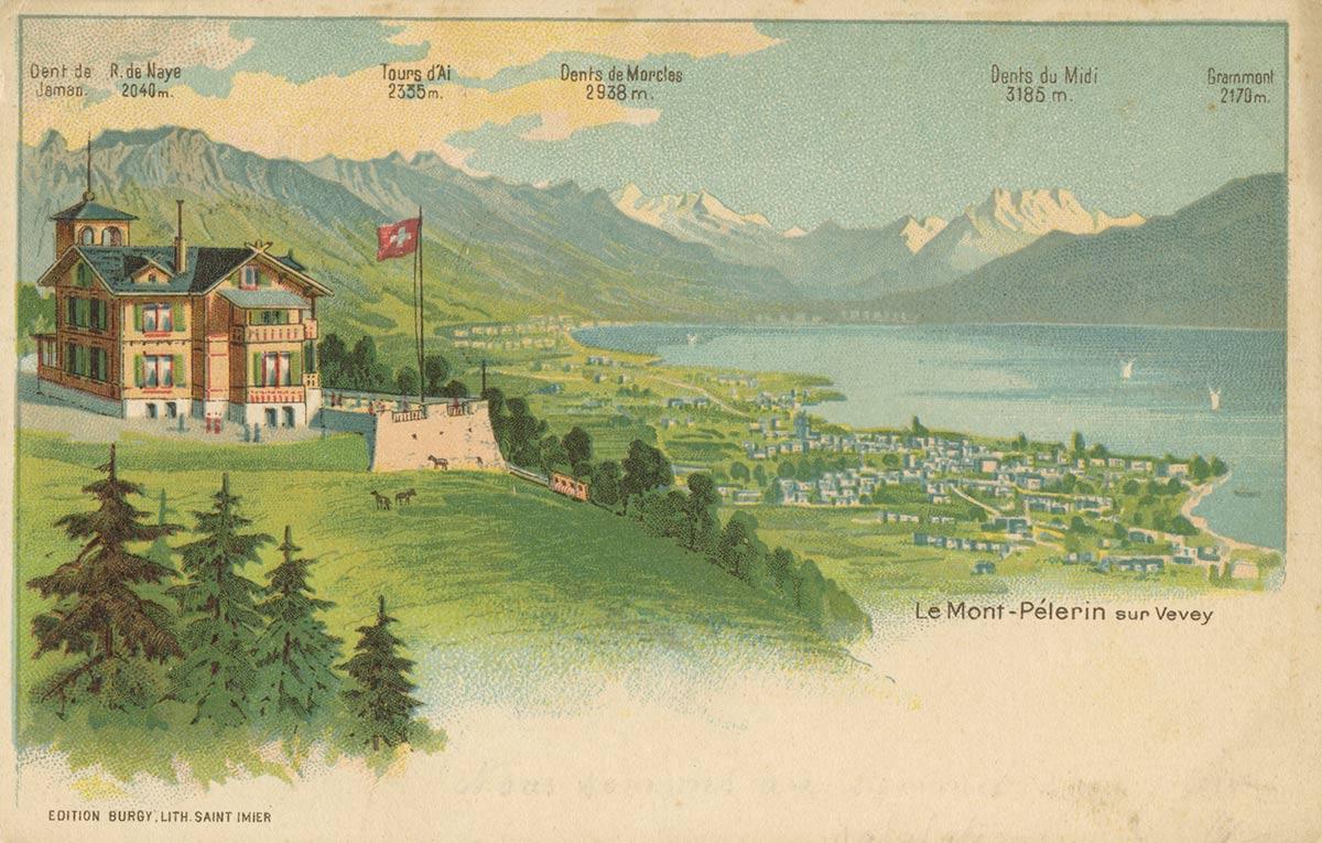 Carte postale. Le Mont-Pélerin sur Vevey