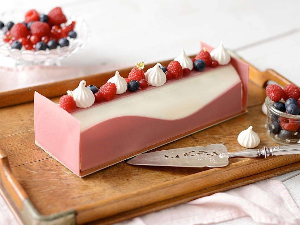 bûche de noël cream cheese fruits rouges julien loustau