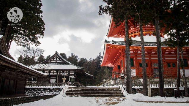 droite, la pagode Konpon-Daito