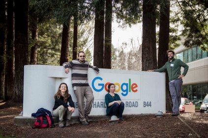 Avec Alejandro et Maria sur le campus de Google
