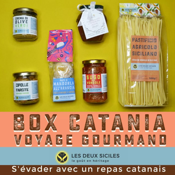 Box Voyage gastronomique Catania