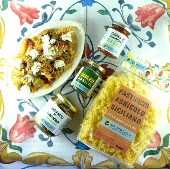 salade de pâtes mélange de légumes