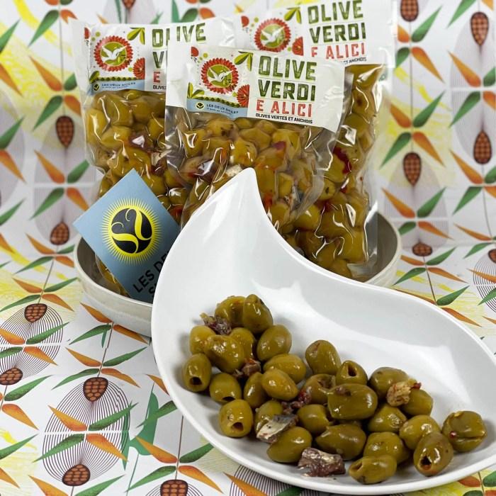 olives vertes aux anchois