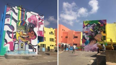 """Photo de """"Let's colour"""": Astral redessine les murs de l'Orphelinat de Sidi Bernoussi"""