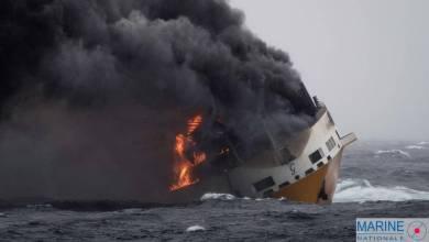 Photo de Naufrage d'un cargo italien : Risque de pollution sur les côtes françaises