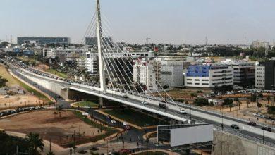 Photo de Pour sa première journée de mise en service, nous avons testé le pont à Haubans de Sidi Maarouf