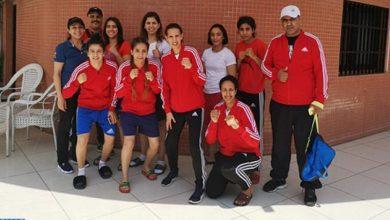 Photo de Boxe. La sélection marocaine féminine remporte 5 médailles d'or au Gabon