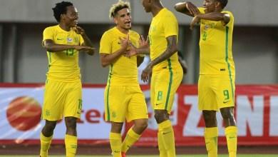Photo de Les Bafana Bafana éliminent la Namibie et se placent derrière le Maroc
