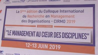 Photo de Vidéo. 5e édition du Colloque international de recherche en management des organisations – CIRMO 2019