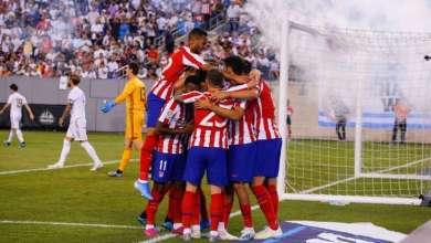 Photo de L'Atlético a écrasé le Real en match amical