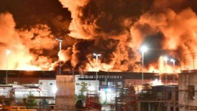 Photo de France: incendie d'une usine chimique, les autorités dans la tourmente