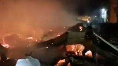 Photo de Un marché à Ksar El-Kebir ravagé par les flammes (vidéo)