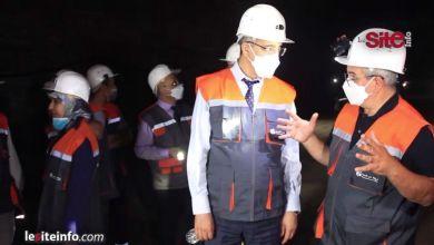 Photo de Aziz Rabbah visite la mine de sel de Mohammédia (VIDEO)