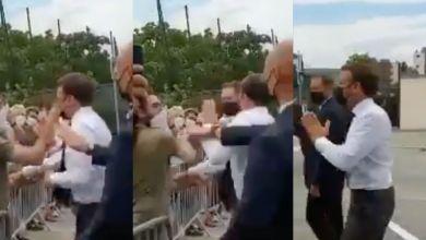 Photo de France: Emmanuel Macron se fait gifler par un inconnu (VIDEO)