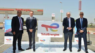 Photo de Total Maroc procède officiellement au premier dévoilement d'une station-service qui arbore la nouvelle identité TotalEnergies