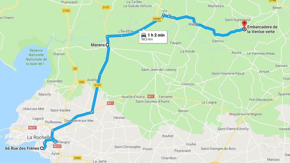 Carte la Rochelle et ses alentours