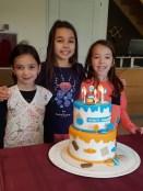 Un beau gâteau pour l'intervieuw