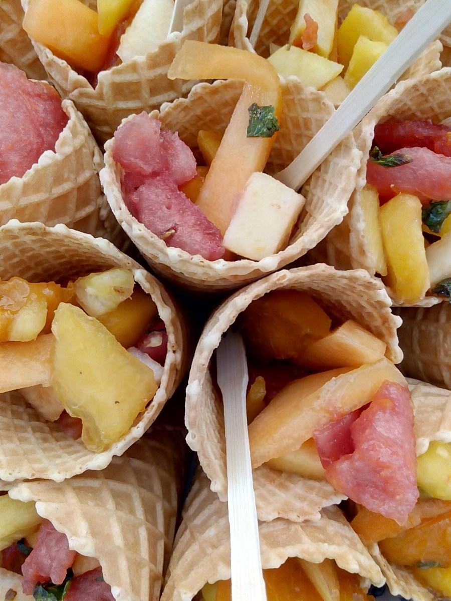 Cornets de Fruits à la Menthe