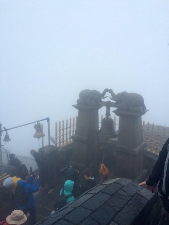 la vue depuis l'adam's peak au sri lanka