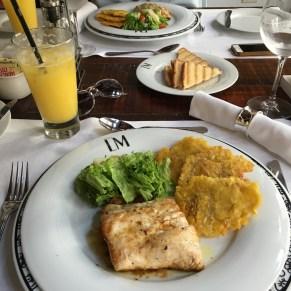 déjeuner à l'hôtel LM à carthagène