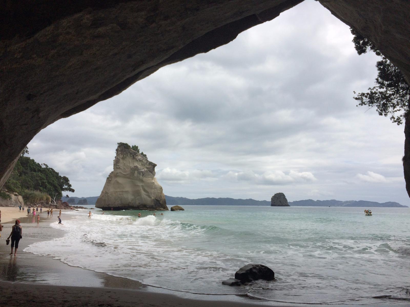 plage de l'île du nord de nouvelle-zélande