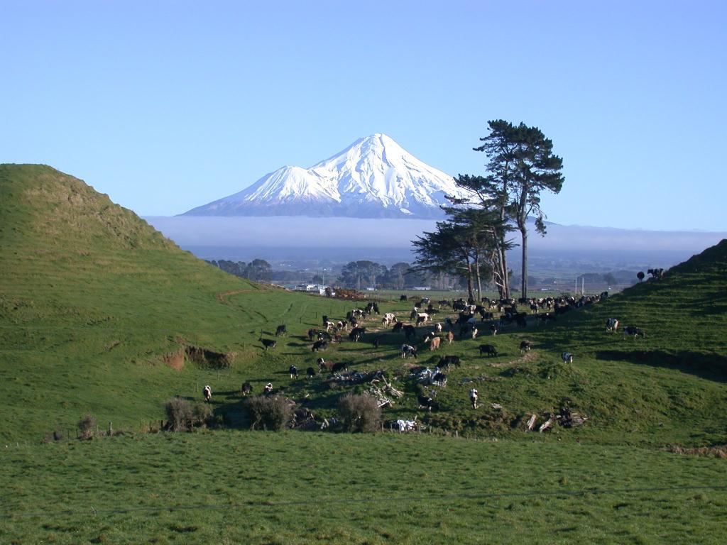 Mount taranaki de l'île du Nord de Nouvelle-Zélande