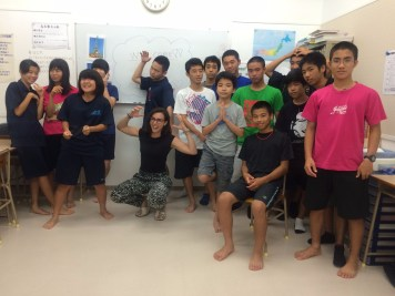 cours d'anglais dans une école d'ishigaki