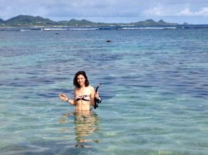 faire du snorkelling à ishigaki sur yonehara beach