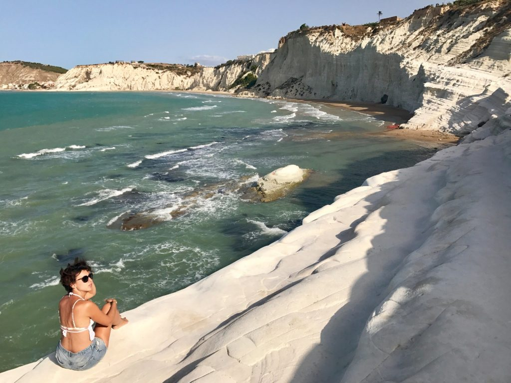 les-exploratrices-roadtrip-sicile-scala-dei-turchi-fanny-sud de la Sicile