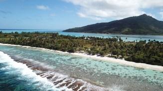l'île de huahine vue du ciel en polynésie française