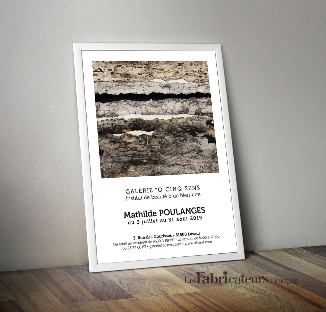 Création affiche Exposition Galerie d'Art O 5 sens - Les Fabricateurs d'images