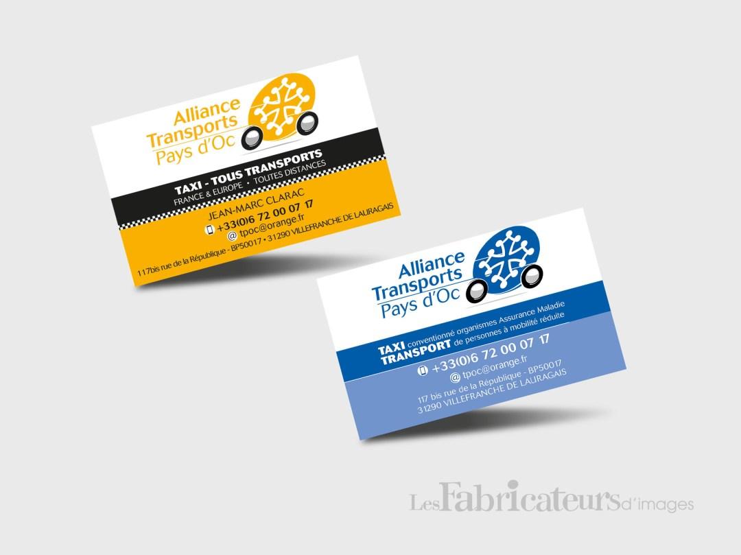 Création carte de visite Alliance TPOC - Les Fabricateurs d'images