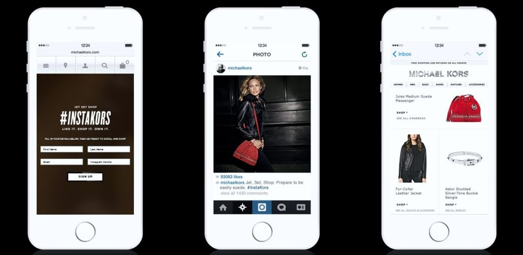 MICHAEL KORS SHOPPABLE INSTAGRAM 1
