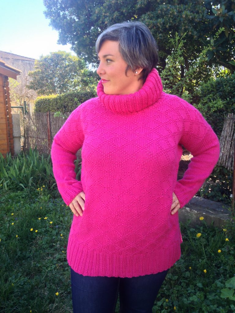 pour tricoter le pull Kingston Tunic, il faut aimer les losanges !