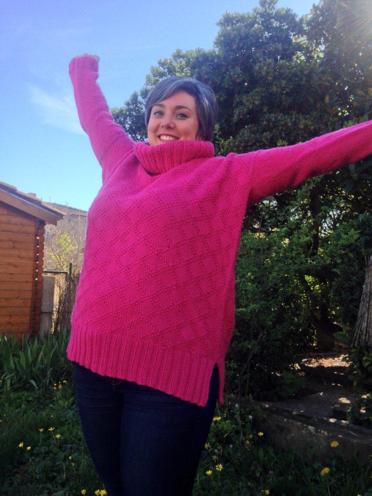 Je vous conseille de tricoter le pull Kingston Tunic : c'est une merveille à porter !