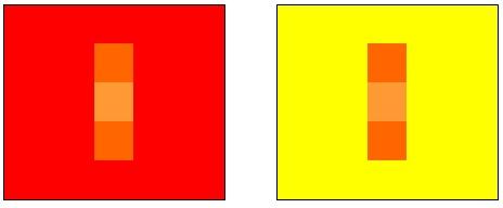 illusion d'optique pour illustrer un aspect du test de colorimétrie