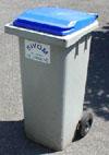 poubelle bleue