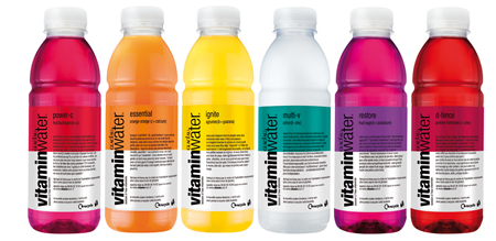 La gamme des VitaminWater
