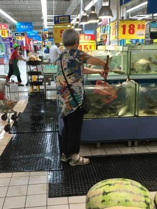 Self service au rayon poissons 🐟