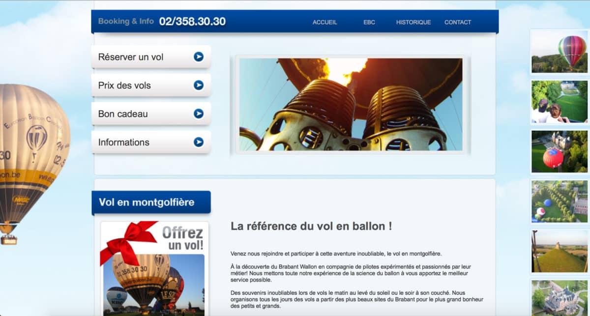 Vol en montgolfière sur le Brabant (Belgique)