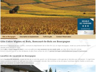« Entre Vignes et Bois » : Gîte en Bourgogne à Boncourt-le-Bois