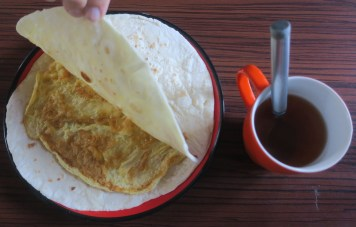 Chapati with eggs