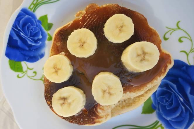 Pancake dulce de leche et banane