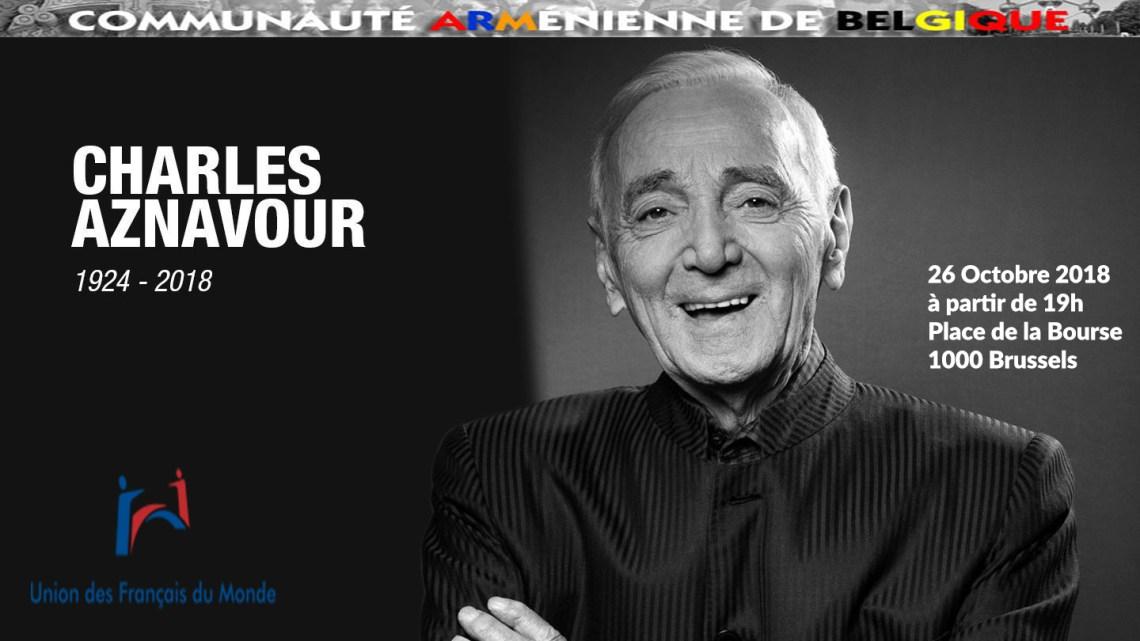 Concert hommage à Charles Aznavour vendredi 26 octobre à 19 heures à Bruxelles