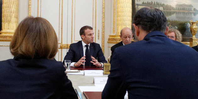 Macron.. au repos