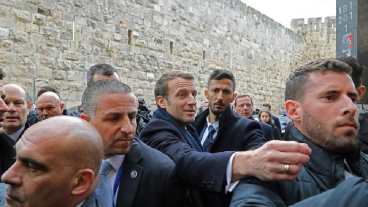 Tensions entre l'escouade de sécurité israélienne et Emmanuel Macron
