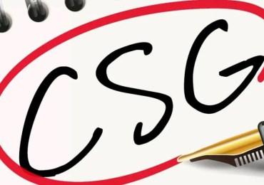 """CSG : """"Fin de non-recevoir"""""""
